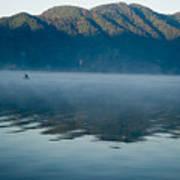 Mist On Lake Atitlan Guatemala Art Print