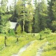 Misty Greens Art Print
