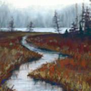 Misty Maine Art Print