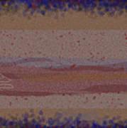 Misty Moisty Landscape Abstraction Art Print
