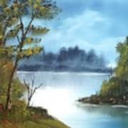 Misty River Art Print