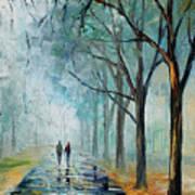 Misty Stroll Art Print