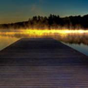 Misty Sunrise On Old Forge Pond Art Print