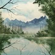 Misty View Art Print