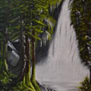 Misty Waterfall Art Print