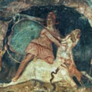 Mithras Killing The Bull - To License For Professional Use Visit Granger.com Art Print