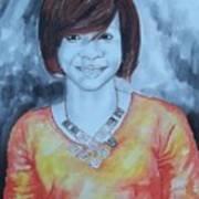 Mix Media Portrait Art Print