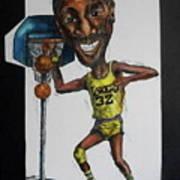 Mj Caricature Art Print