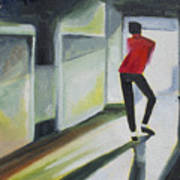 Mj One Of Five Number Three Print by Patricia Arroyo