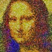 Mm Candies Mona Lisa Art Print