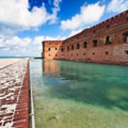 Moat And Walls Of Fort Jefferson Art Print
