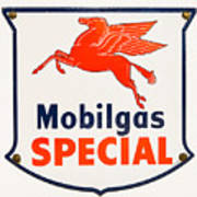 Mobil Gas Vintage Sign Art Print