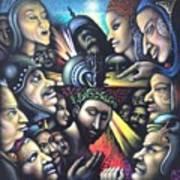 Mocking Of Christ - Homage To Bosch Art Print