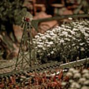 Model Railroad Windmill Art Print