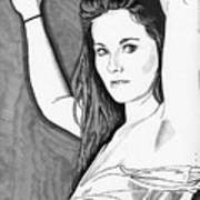Model Shanna Art Print