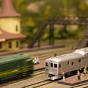 Model Trains Art Print