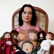 Model With Porcelain Dolls Art Print