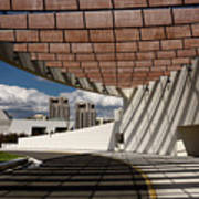 Modern Architecture Of Ismaili Centre Entrance With Aga Khan Mus Art Print