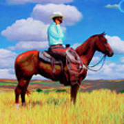 Modern Cowboy Art Print