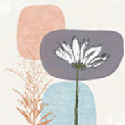 Modern Fall Floral 2- Art By Linda Woods Art Print