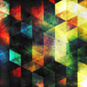 Modern Quadratic Abstraction Art Print