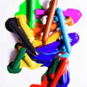 Modern Rainbow Art Art Print
