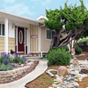 Modern Suburban House Hayward California 26 Art Print