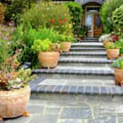 Modern Suburban House With Succulent Garden Hayward California 34 Art Print