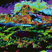 Modified Mountain Ddd5b Art Print