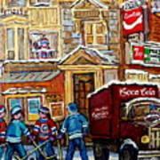 Moe's Corner Snack Bar And Diner Montreal Landmark  Restaurant Canadian Art Carole Spandau Art Print