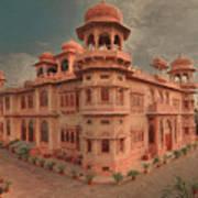 Mohatta Palace At Sunset Art Print