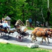 Mohonk Carriage Tour Art Print