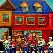 Moishes Steakhouse Hockey Practice Art Print