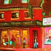 Moishes Steakhouse On The Main Art Print