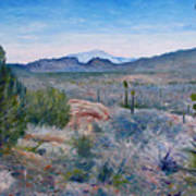 Mojave Desert With Mt San Jacinto California Usa 2001   Art Print