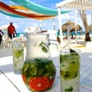 Mojitos On The Beach- Punta Cana Art Print
