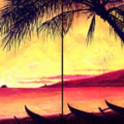 Mokulua Sundown Print by Angela Treat Lyon