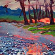 Molalla River Shore 7 Art Print