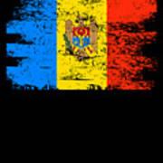 Moldova Gift Country Flag Patriotic Travel Shirt Europe Light Art Print