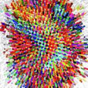 Molecular Floral Abstract Art Print