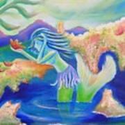 Molly Mermaid Art Print