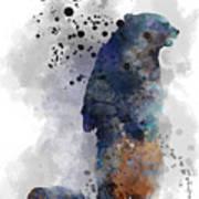 Mom And Baby Bear Art Print