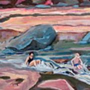 Momma At Slide Rock Park Arizona Art Print