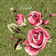 Mom's Day Elegance Vintage Rose Art Print