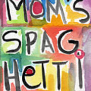 Mom's Spaghetti- Art By Linda Woods Art Print