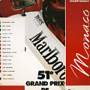 Monaco F1 1993 Art Print