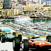 Monaco Grand Prix Racing Poster - Original Art Work Art Print