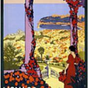 Monaco, Monte Carlo, View From Hotel Terrace Art Print