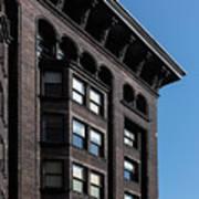 Monadnock Building Cornice Chicago B W Art Print