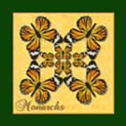 Monarch Butterfly Pin Wheel Art Print